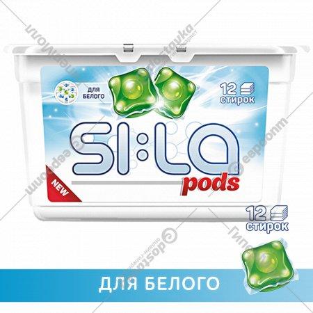 Капсулы для стирки «SI:LA» Pods white, 12 шт.