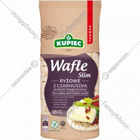 Вафли рисовые «Kupiec» с черным тмином, 90 г.