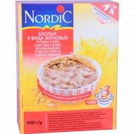 Хлопья «Nordic» 4 вида зерновых, 600 г.