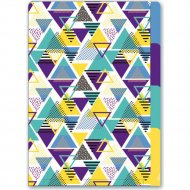 Папка уголок «Геометрия» А4, 3 деления, разноцветный