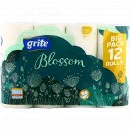 Туалетная бумага «Grite» Blossom 12 ,3 слоя.