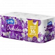 Туалетная бумага «Grite Orchidea» White, 16 рулонов.