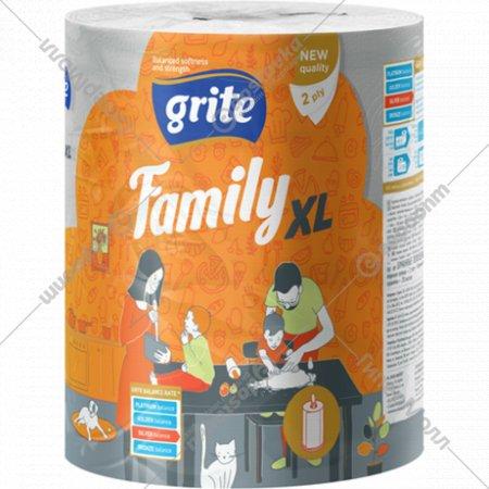 Полотенца бумажные «Grite Family» XL Mix, 1 рулон.