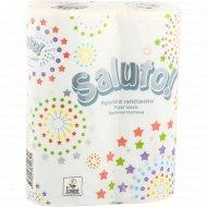 Полотенца бумажные «Saluto» двухслойные, 2 рулона.