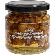Мед натуральный с грецкими орехами, 240 г.