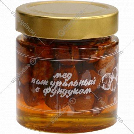 Мед натуральный с фундуком, 240 г.