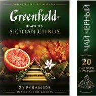 Чай «Greenfield» Sicilian Citrus, 20 пакетиков.