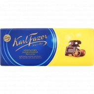 Шоколад молочный «Karl Fazer» с цельным фундуком, 200 г