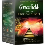 Чайный напиток «Greenfild» Tropical Sunset, 20 пакетиков.