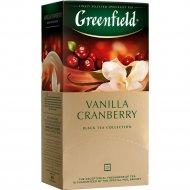 Чай черный «Greenfield» с ароматом клюквы и ванили, 25 пакетиков.