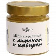 Мед натуральный с лимоном и имбирем, 250 г.