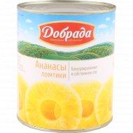 Ананасы консервированные «Добрада» ломтики, 830 мл.