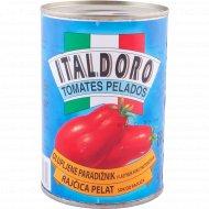 Томаты очищенные «Italdoro» в собственном соку, 400 г.