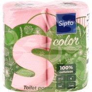 Бумага туалетная «Sipto» с ароматом яблока, двухслойная, 4 рулона.