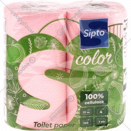 Бумага туалетная «Sipto» с ароматом яблока, двухслойная, 4 рулона
