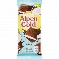 Шоколад темный «Alpen Gold» с молоком и кокосовой стружкой, 85 г