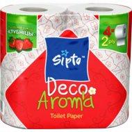 Бумага туалетная «Sipto Deco Aroma» с ароматом клубники, 4 рулона.