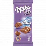 Шоколад «Milka» Bubbles, молочный, пористый, 80 г.