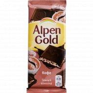 Шоколад темный «Alpen Gold» с молоком с добавлением кофе, 85 г