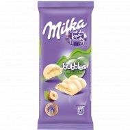 Шоколад «Milka» Bubbles белый пористый с фундуком, 83 г.