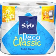 Бумага туалетная «Sipto Deco Class» 2-х слойная, 4 рулона.