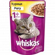 Корм для кошек «Whiskas» рагу с курицей, 85 г.