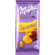 Шоколад «Milka» молочный с карамельной начинкой 90 г.