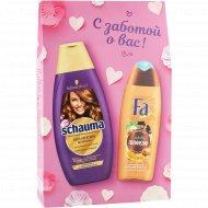 Набор косметический «Shauma+Fa» шампунь 380 мл.+гель для душа 250 мл.