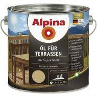 Масло для древесины «Alpina» Oel fuer Terrassen, 2.5 л