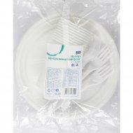 Набор одноразовой посуды «Aro» белый.