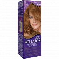 Краска для волос «Wellaton» шоколад с карамелью, 8/74.