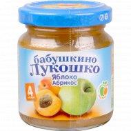 Пюре «Бабушкино Лукошко» яблоко+абрикос 100 г.