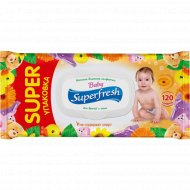 Влажные салфетки «Super Fresh» с календулой, 120 шт.