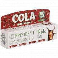 Детская зубная паста «President» кола, 3-6 лет, 50 мл.