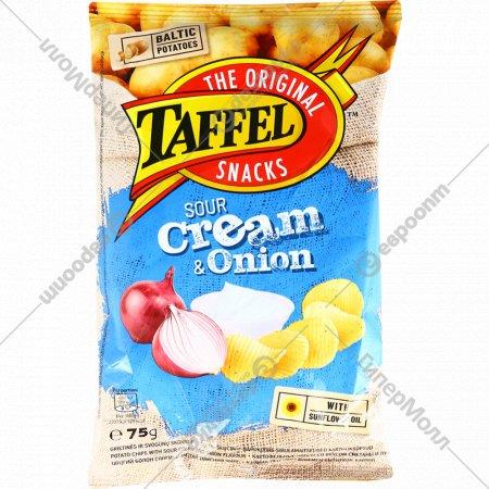 Картофельные чипсы «Taffel» сметана и лук 75 г.