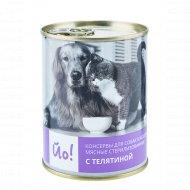 Консервы для собак и кошек «Йо!» с телятиной, 338 г.
