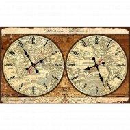 Часы настенные «Карта мира».