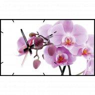 Часы настенные «Орхидея сиреневая».