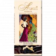 Шоколад горький «Ameri» с ежевикой и вкусом имбиря, 100 г.
