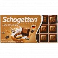 Шоколад молочный «Schogetten» Latte Macchiato, 100 г.