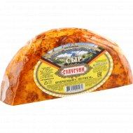 Сыр «Сулугуни» копченый с перцем 45-52%, 1 кг., фасовка 0.4-0.5 кг