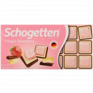 Белый шоколад «Schogetten» Trilogia Strawberry, 100 г.