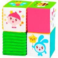 Игрушка набор из четырех кубиков «Малышарики».