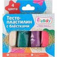 Набор для детской лепки «Frendy» с блестками, 4х30 г.
