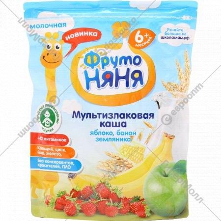 Каша мультизлаковая «Фрутоняня» яблоко, банан, земляника, 200 г.