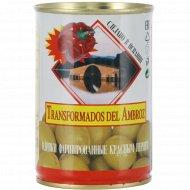 Оливки зеленые «Transformados del Ambroz» с красным перцем, 280 г.