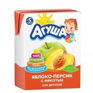 Сок «Агуша» яблоко и персик, 200 мл.