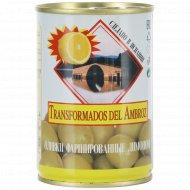 Оливки зеленые «Transformados del Ambroz» с лимоном, 280 г.