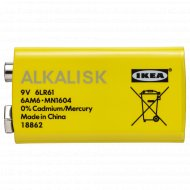 Батарейка щелочная «Ikea» Алкалиск.