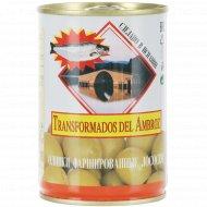 Оливки зеленые «Transformados del Ambroz» с лососем, 280 г.